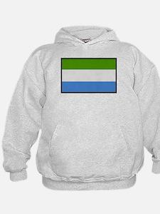 """""""Sierra Leone Flag"""" Hoodie"""