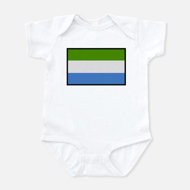"""""""Sierra Leone Flag"""" Infant Bodysuit"""
