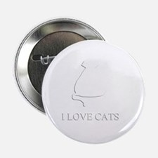 "I LOVE CATS 2.25"" Button"