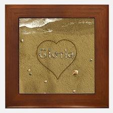 Gloria Beach Love Framed Tile