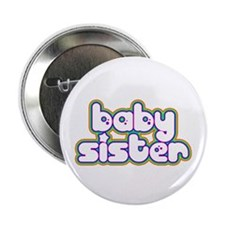 Rainbow Baby Sister Button