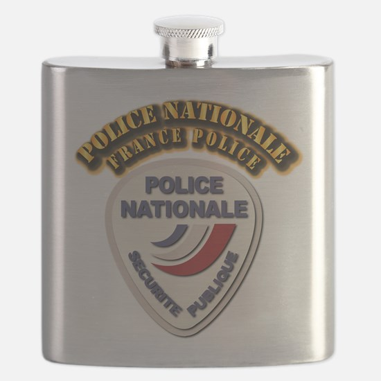 Police Nationale France Police with Text Flask
