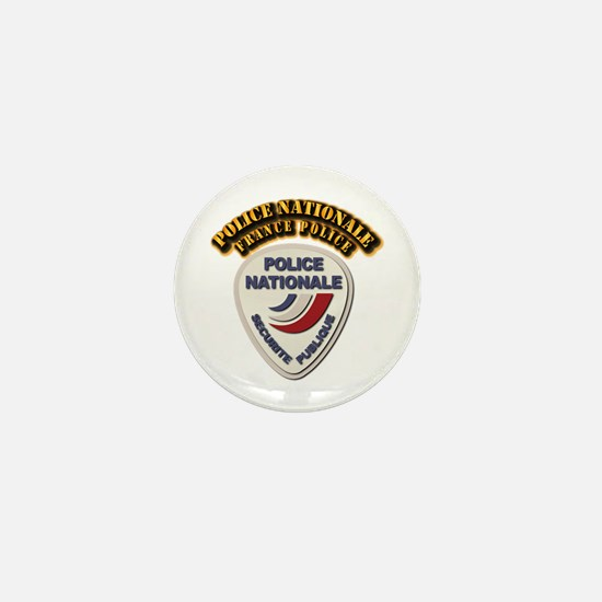 Police Nationale France Police with Te Mini Button