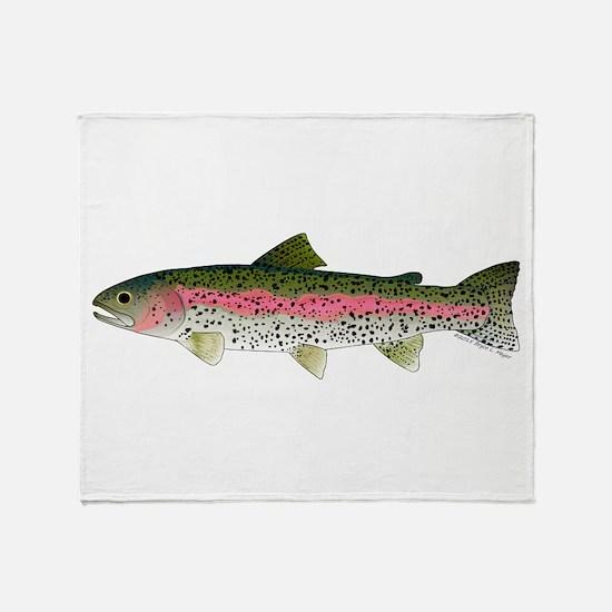 Rainbow Trout - Stream Throw Blanket