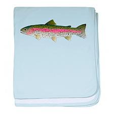 Rainbow Trout - Stream baby blanket