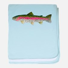 Rainbow Trout - Stream baby blanket