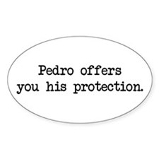 Pedro Protection (blk) - Napoleon Oval Decal