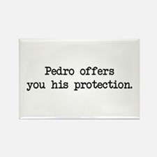 Pedro Protection (blk) - Napoleon Rectangle Magnet