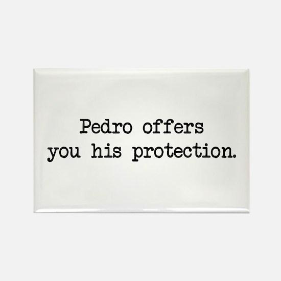 Pedro Protection (blk) - Napoleon Rectangle Magnet