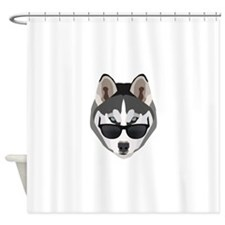 Cool Husky Shower Curtain