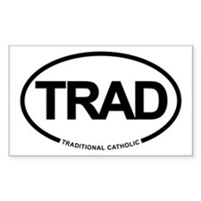 Trad Cath Rectangle Decal