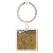 Gilberto Beach Love Square Keychain