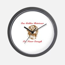 Golden Retriever One Is Never Enough Wall Clock