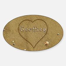 Geoffrey Beach Love Sticker (Oval)