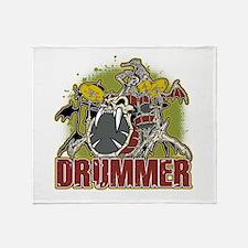 Skeleton Drummer Throw Blanket