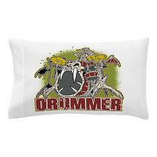 Skeleton Drummer Pillow Case