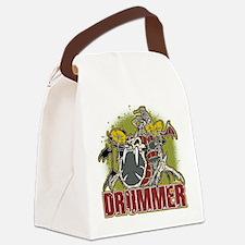 Skeleton Drummer Canvas Lunch Bag