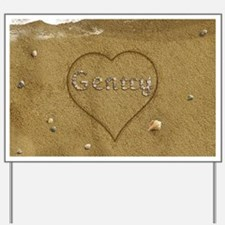 Gentry Beach Love Yard Sign