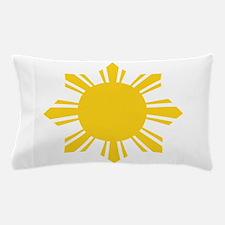 Philippines Flag Sun Pillow Case