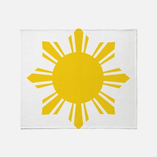Philippines Flag Sun Throw Blanket