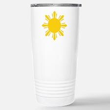 Philippines Flag Sun Stainless Steel Travel Mug
