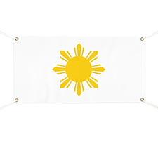 Philippines Flag Sun Banner