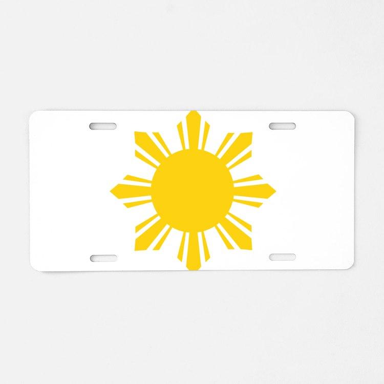 Philippines Flag Sun Aluminum License Plate