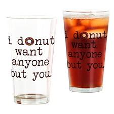 Cute Donut Drinking Glass