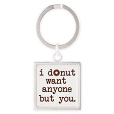 Cute Donut Square Keychain