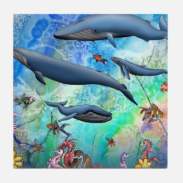 Whale Tile Coaster