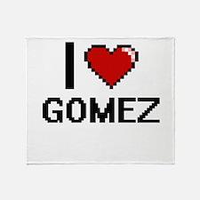 I Love Gomez Throw Blanket