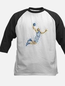 Basketball Player in BLUE Uni Kids Baseball Jersey