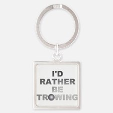 I'd Rather be Throwing Shotput Keychains