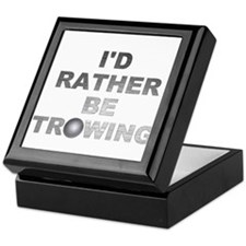 I'd Rather be Throwing Shotput Keepsake Box
