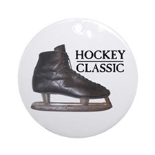 Hockey Classic Skate Ornament (Round)