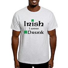 Irish I Were Drunk Maternity Design T-Shirt