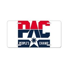 Pac People's Champ Aluminum License Plate