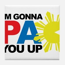 I'm Gonna PAC You Up Tile Coaster