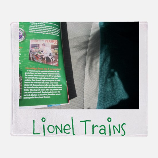LIONEL TRAINS. TOY STORY FOUR. Throw Blanket