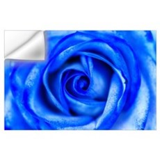 Abstract Blue Rose Macro Wall Decal