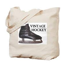Vintage Hockey Skate Tote Bag