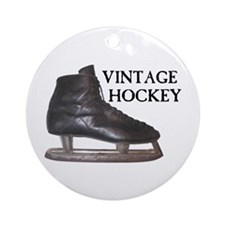 Vintage Hockey Skate Ornament (Round)