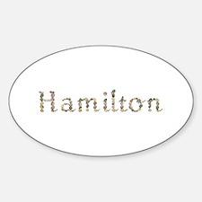 Hamilton Seashells Oval Decal