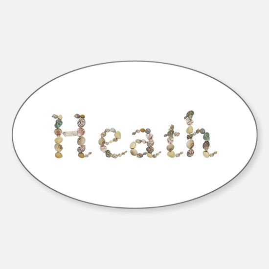 Heath Seashells Oval Decal