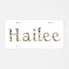 Hailee Seashells Aluminum License Plate