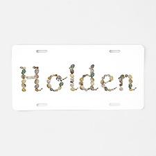 Holden Seashells Aluminum License Plate
