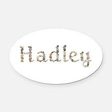 Hadley Seashells Oval Car Magnet