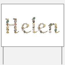 Helen Seashells Yard Sign