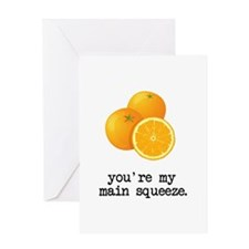 Main Squeeze Greeting Cards