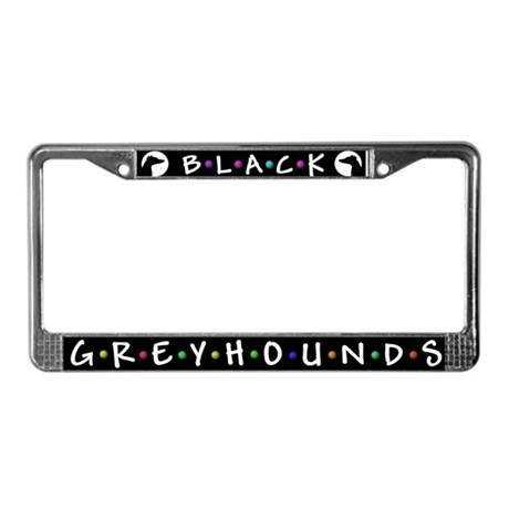 Black Greyhounds License Plate Frame